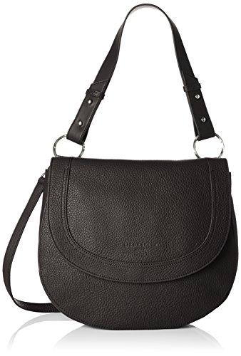 Liebeskind Berlin HoboM - Millen - Bolso de hombro de Cuero Mujer, color Negro, talla 7x27x36 cm (B...