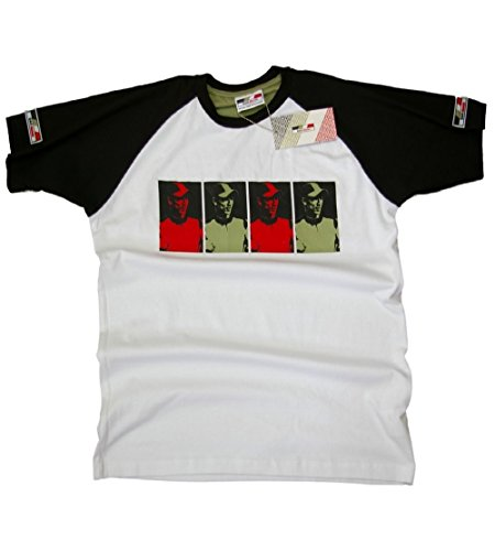 T-Shirt: BAR Honda F1 Racing Takuma Sato 4 foto NEW! bianco Small