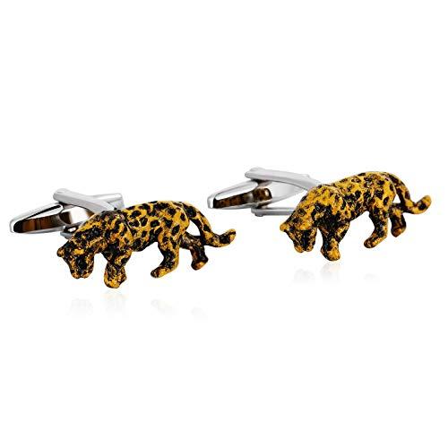 Daesar Gemelos Acero Inoxidable Hombre Leopardo Animal