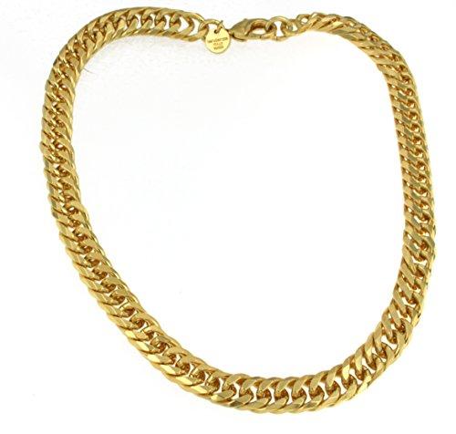 old Doublé 9 mm 45 cm Halskette Gold-Kette Herren-Kette Damen Geschenk Schmuck ab Fabrik Italien tendenze DPGYs9-45v ()