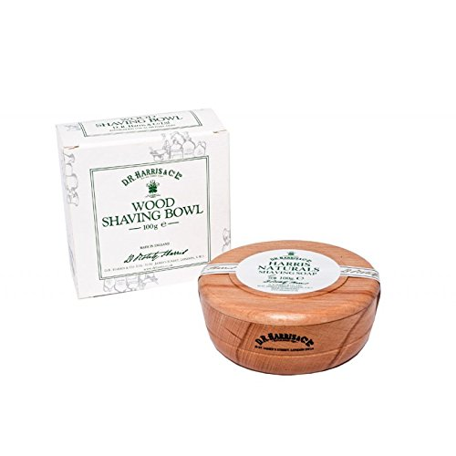 DR Harris & Co Beech Wooden Shaving Bowl with Naturals Shaving Soap