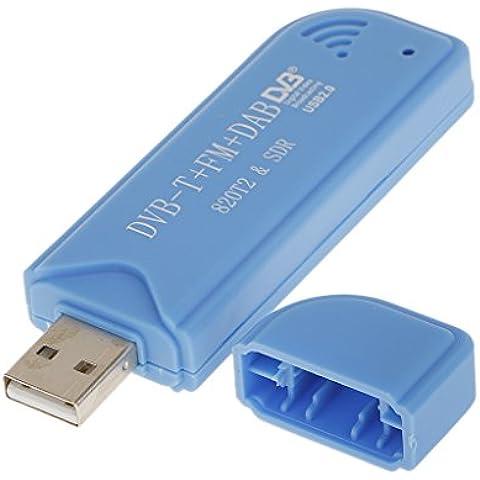 USB2.0 Digital DVB-T SDR+DAB+FM HDTV TV Convertir Receptores Palillo RTL2832U+R820T2