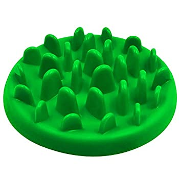Gamelles Anti Glouton, PETBABA Interactif Antidérapant Bol de Nourriture pour Chiens Chats Vert S