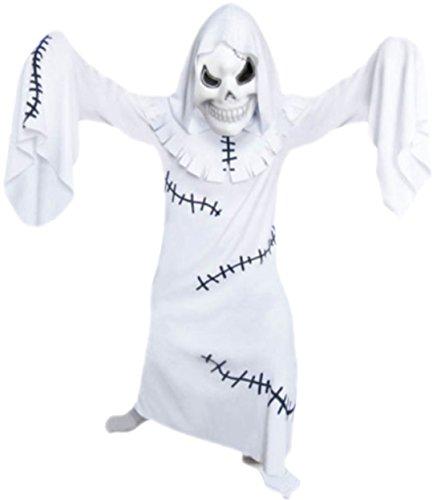 erdbeerloft Jungen Geist, Gespenst Kostüm, Halloween, 140/146, Weiß (Geist Halloween Kostüme Für Kleinkinder)
