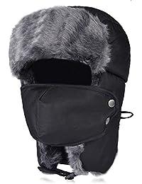 VBIGER Unisex Sombrero de Invierno Sombrero de Felpa Sombrero a Prueba de Viento Sombrero Caliente Gorro Antipolvo Sombrero de Esquí Ciclismo