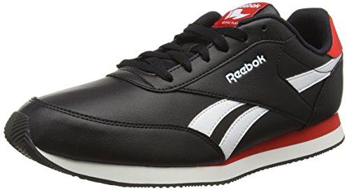 Reebok Royal Classic Jogger 2L, Scarpe da Ginnastica Basse Unisex - Adulto, Nero (Black/White/Riot Red), 44.5 EU
