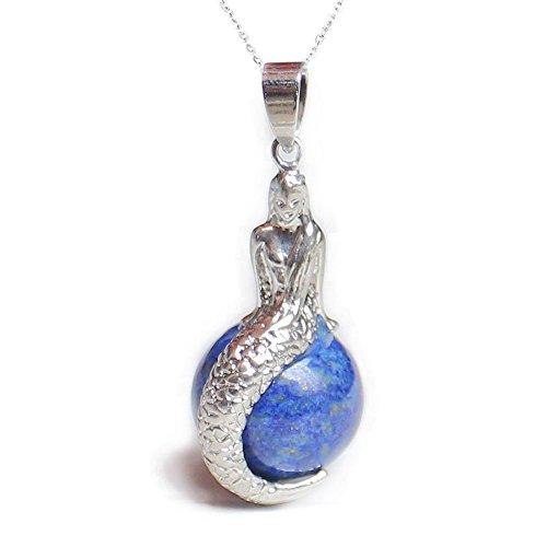 Cailespi-Damen-Natur-Kristall-Amethyst-Rosenquarz-rund-Perlen-Mermaid-Anhnger-Ketten-457-cm
