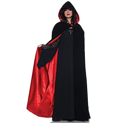 GIFT ZHIZHUXIA Einheitliches Kapuzen-Cape-Kap-Cosplay-Kostüm für Umhang und Cabrio-Bekleidung Weihnachtsfeier Kleid Requisiten (Farbe : Photo Color, größe : ()