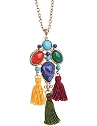 Young & Forever Boho Gypsy Collection Silver Gold-plated Strand Necklace For Girls/Women
