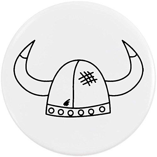 Azeeda 58mm 'Casco Vikingo' Insignia de Botón Pin (BB00044266)
