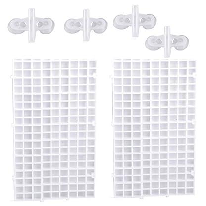 Eastar White 2pcs Grid Isolate Board Divider Fish Tank Bottom Filter Tray Aquarium Crate 1