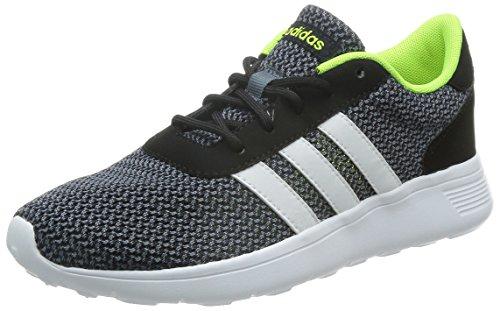adidas Lite Racer, Chaussures de Sport Homme, Noir, EU Noir / blanc / jaune (noir essentiel / blanc Footwear / jaune solaire)