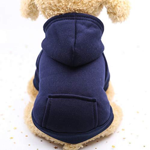 lulupila Hund Pullover, Hundepullover, Haustier Sweater, Sweatshirt, Hunde Pullover, Kleidung, Hundebekleidung, Hundepullover, Baumwolle Sweatshirt für Welpen große Hunde (S, Dunkelblau)