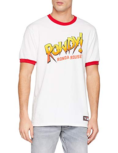 Ronda Rousey WWE Rowdy White Official Authentic T-Shirt (M) -