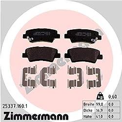 ZIMMERMANN 25337.160.1Serie Bremsbeläge, vorne, 2Sensoren Akustische, inklusive Platte dämpfend