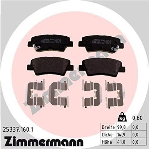 ZIMMERMANN 25337.160.1Serie Bremsbeläge, vorne, 2Sensoren Akustische, inklusive Platte dämpfend -