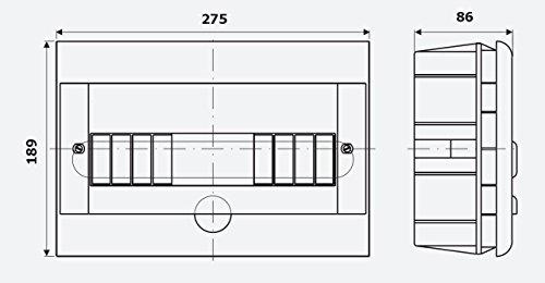 Unterputz Kleinverteiler 12 Module / Sicherungskasten / Verteilerkasten Unterputz IP40 - 4