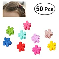 Frcolor Mini Hair Claw Clip Hair Pin for Baby Girls (Random Colors) - 50 Pieces