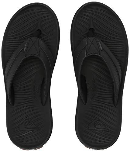 Quiksilver Herren TRAVEL Oasis Sandale, schwarz/braun, 43 EU