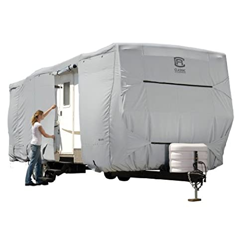 Classic Accessories 80-138-181001-00 OverDrive PermaPro Heavy Duty Voyage Trailer & Hauler Toy Cover, Fits 27 '- 30'