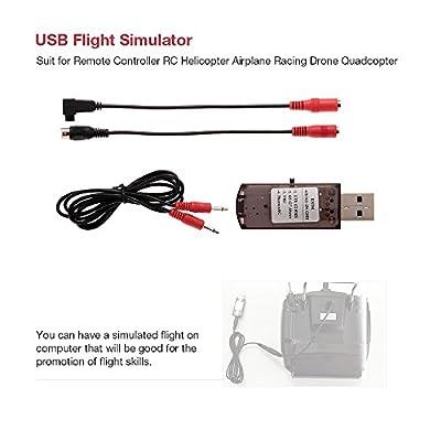 Goolsky USB Flight Simulator Computer Simulation Flight for JR FUTABA Walkera Devo 7 FS-i6X Remote Controller RC Helicopter Airplane Drone
