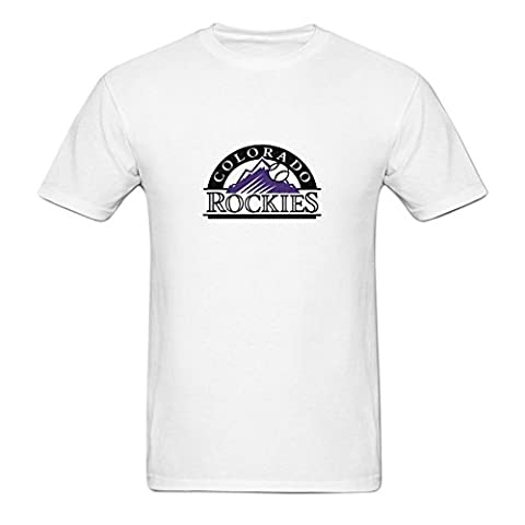 Homme's Colorado Rockies MLB Logo O Neck Short Sleeve Cotton Tee?XXX-Large?