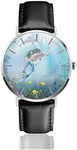 Mire los Delfines submarinos y los Relojes de Pulsera únicos de Sirena de Acero Inoxidable de Cuarzo...