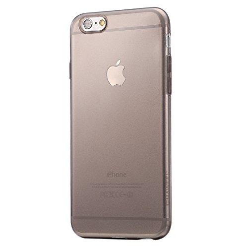 wkae Schutzhülle Case & Cover haweel 0,3mm Zero Series Transparent TPU Schutzhülle für iPhone 6& 6S schwarz
