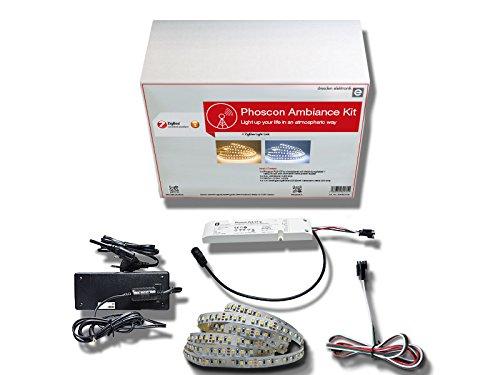 Preisvergleich Produktbild Phoscon Ambiance Kit für atmosphärische Lichtgestaltung als Komplettlösung | mit lichtintensivem LED-Streifen und 5 m Länge
