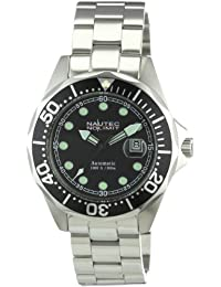 Nautec No Limit Herren-Armbanduhr Deep Sea Bravo Analog Automatik DSB AT/STSTBKBK