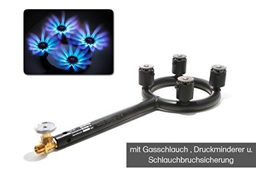 Hochleistungsbrenner 27 kW / Propan Turbo Hockerkocher - Gaskocher MADE IN GERMANY (z.B. für Räucherofen, Bierbrauen, Wurstkessel, Fleischerei, Gulaschkanone, Imker, Jäger) Gasbrenner f. Kochkessel