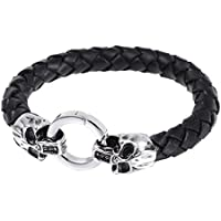SaySure- Jewelry Punk Skull Bracelets Stainless Steel Black