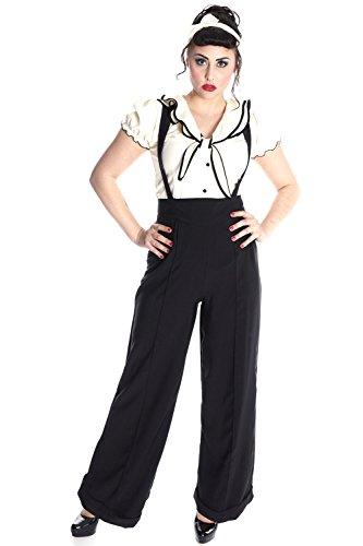 e Retro Rockabilly Puffärmel Shirt Unifarben Bluse ()