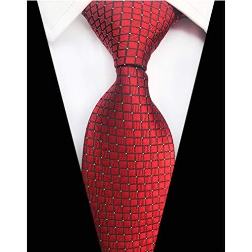 WOXHY Paisley Plaid Jacquard Woven Silk Mens Ties Krawatte 8 cm Gestreiften Krawatten Für Männer Anzug Business Hochzeit Party Woven 3 Mens Tie