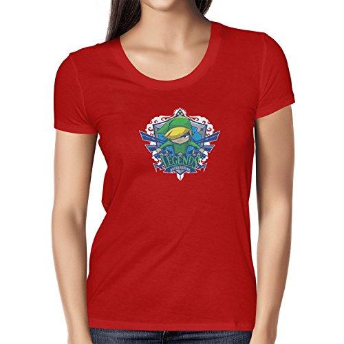 NERDO - Legends Hyrule - Damen T-Shirt, Größe L, (Frauen Kostüme Für Nerd Cute)