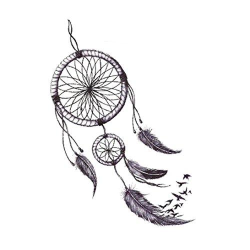 Dinglong Mode Körper Kunst Traumfänger Tattoo Aufkleber unisex (G)