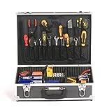 Estudio x ALUMINIO electricistas JUNTAS Comerciante Toolbox Caja Almacenaje Maletín de vuelo negro