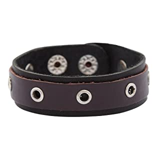 Aqualine leather Bracelet black-brown ABRL-11