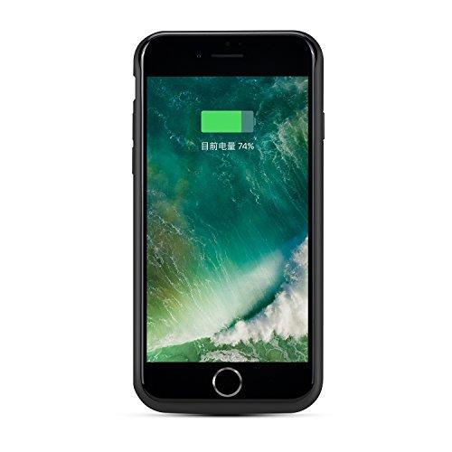 runsy iPhone 7Plus, Coque Batterie 7500mAh Batterie rechargeable étui de chargement pour iPhone 7Plus (14cm), étui, Chargeur batterie externe de secours Power Bank Coque noir