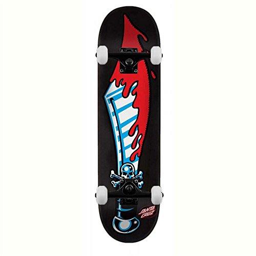Santa Cruz Skateboards Slasher grande spada skateboard completo nero 21cm