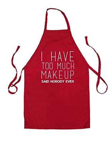 i-have-too-much-make-up-said-nobody-ever-kids-unisex-fit-apron-red-3-6yrs
