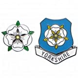 Yorkshire County Rose Pin Badges