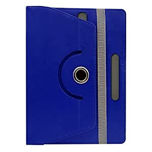 Gadget Decor (TM) PU LEATHER Rotating 360° Flip Case Cover With Stand For Celkon Xion s CT695 - Dark Blue