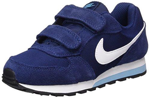 Nike Md Runner 2 (Psv), Scarpe da Ginnastica Bambina Blu (Binary Blue / White / Vivid Sky / Black)