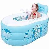 LXYFC Badewannen Inflatable, verdickte Erwachsene, Falten Badewanne, Kinder Bad, Kunststoff PVC-Badebottich-A, 150 * 85 * 50
