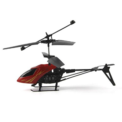 Oyedens RC Mini Helicopter 901 2CH Radio Remote Control Aircraft Toy Micro 2 Channel (Red)