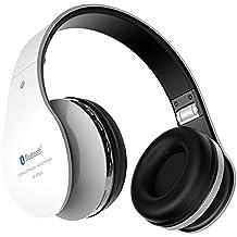 Aita BT809 Auriculares con Micrófono, MP3 Player, MicroSD / TF Música, Radio FM Digital, 4 en 1 Multifuncional Estéreo Inalámbrico Bluetooth 4.1 + EDR Manos Libres para iPhone, Smartphone, Tablet, MP3 etc. Para adolescentes y adultos (Negro-Blanco)
