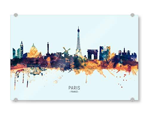 artboxONE Acrylglasbild 120x80 cm Städte Paris France Skyline BlueOrange - Bild Paris France Skyline