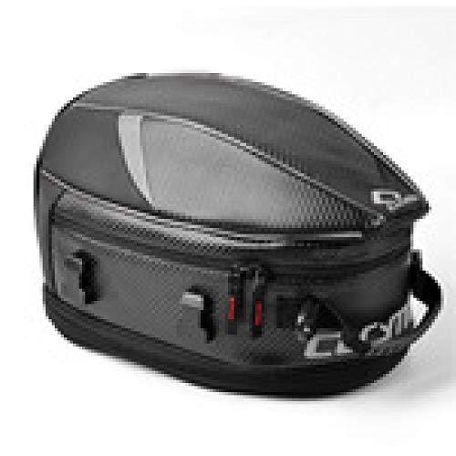 CHQQQ Motorrad-Tankrucksack Wasserdichte Und Verschleißfeste Motorrad-Rücksitztasche Kann Verlängert Werden,Grayedge