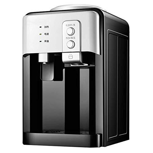 er 5 Gallonen unabhängiger Wasserspender mit heißem und kaltem Wasser, mit Edelstahltank für Haus und Büro,Black,Ice/warm/hot ()